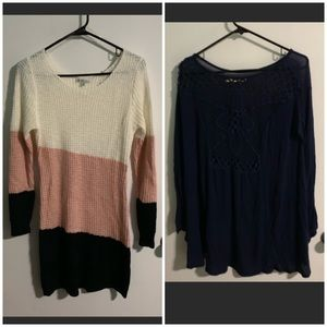 2 Women's Long Sleeve Tops